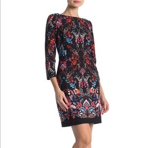 Vince Camuto Printed Scuba Dress